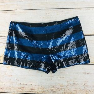 Forever 21 Shorts - shorts EUC party mini L sequin stripe Forever 21